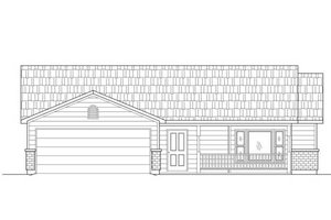 Adobe / Southwestern Exterior - Front Elevation Plan #24-198