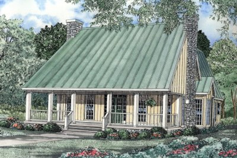 Traditional Style House Plan - 1 Beds 3 Baths 2501 Sq/Ft Plan #17-223 Exterior - Front Elevation