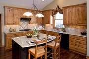 Country Style House Plan - 3 Beds 2.5 Baths 2812 Sq/Ft Plan #51-431 Exterior - Other Elevation