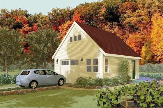 Cottage Exterior - Front Elevation Plan #917-7