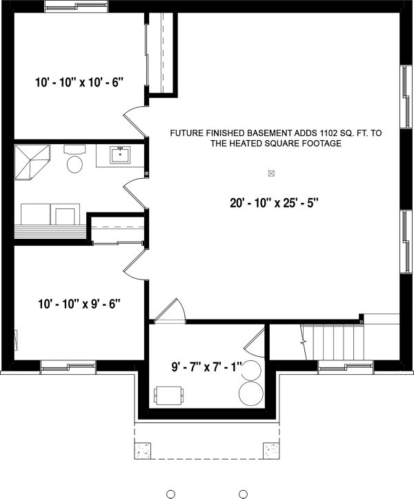 Country Floor Plan - Lower Floor Plan Plan #23-2730