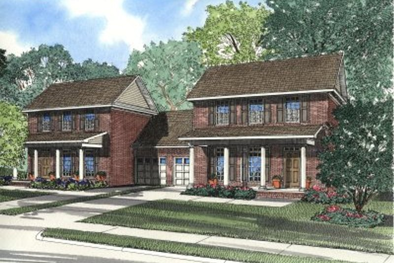 Traditional Style House Plan - 3 Beds 2.5 Baths 3178 Sq/Ft Plan #17-2024 Exterior - Front Elevation