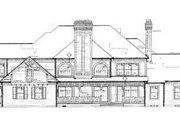 Victorian Style House Plan - 5 Beds 6 Baths 4826 Sq/Ft Plan #72-196 Exterior - Rear Elevation