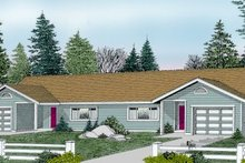 Traditional Exterior - Front Elevation Plan #100-108