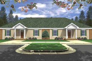 Ranch Exterior - Front Elevation Plan #21-138