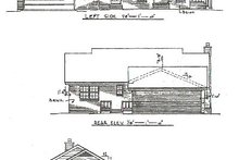 Home Plan Design - Country Exterior - Rear Elevation Plan #14-147