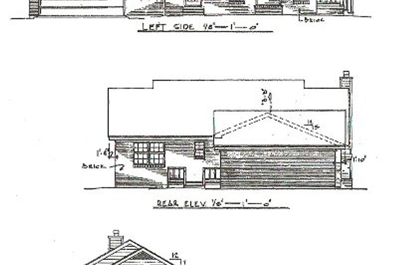Country Exterior - Rear Elevation Plan #14-147 - Houseplans.com