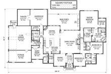 Country Floor Plan - Main Floor Plan Plan #1074-20