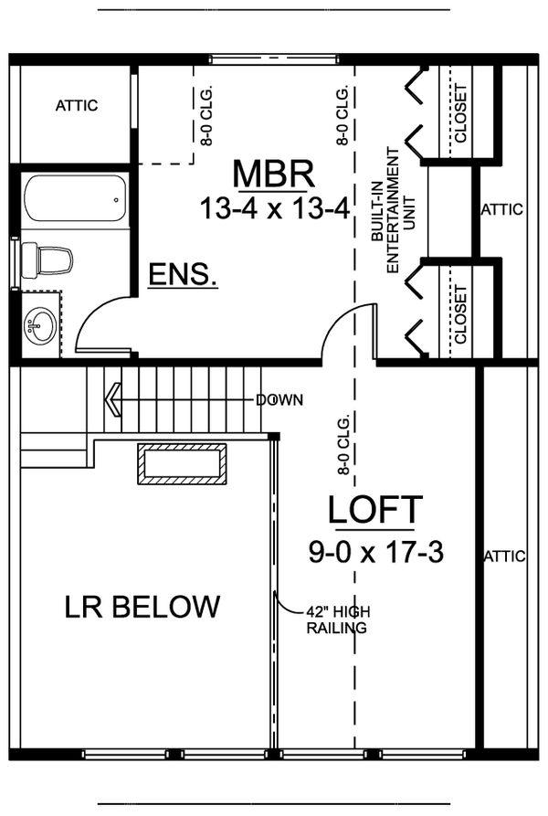 Cabin Floor Plan - Upper Floor Plan #126-219