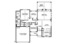 Craftsman Floor Plan - Main Floor Plan Plan #132-196