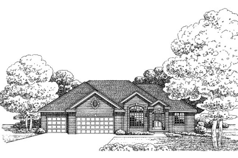 Traditional Exterior - Front Elevation Plan #20-2057 - Houseplans.com