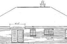 Mediterranean Exterior - Rear Elevation Plan #14-130