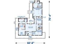 Southern Floor Plan - Main Floor Plan Plan #44-237