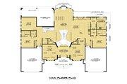Mediterranean Style House Plan - 10 Beds 9.5 Baths 9358 Sq/Ft Plan #1066-124 Floor Plan - Main Floor