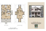 Beach Style House Plan - 3 Beds 3 Baths 1413 Sq/Ft Plan #536-1 Photo