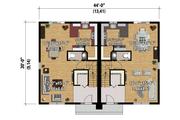 Contemporary Style House Plan - 5 Beds 2 Baths 2666 Sq/Ft Plan #25-4520 Floor Plan - Main Floor