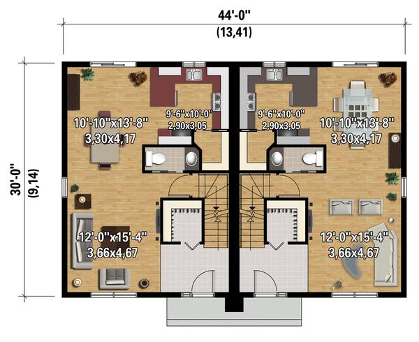 Contemporary Floor Plan - Main Floor Plan Plan #25-4520