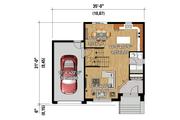 Contemporary Style House Plan - 3 Beds 1 Baths 1590 Sq/Ft Plan #25-4340 Floor Plan - Main Floor Plan