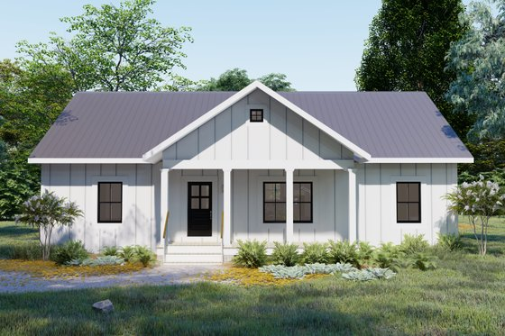 Cottage Exterior - Front Elevation Plan #44-247