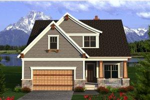 Craftsman Exterior - Front Elevation Plan #70-1204