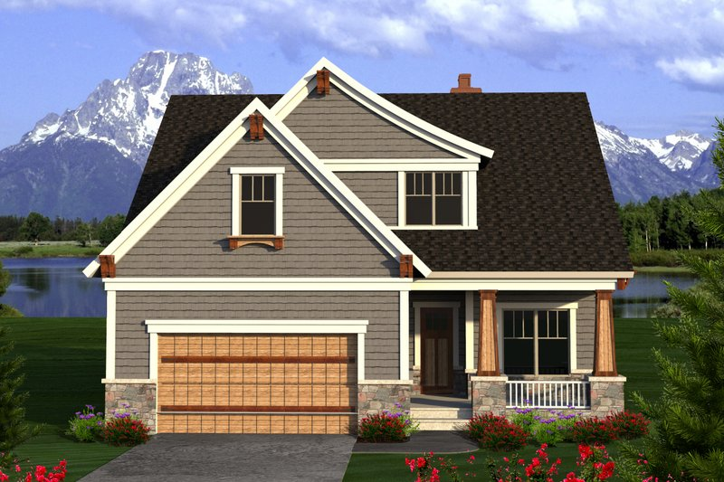 House Plan Design - Craftsman Exterior - Front Elevation Plan #70-1204