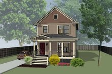 Cottage Exterior - Front Elevation Plan #79-120