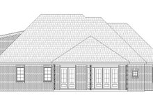 Dream House Plan - Craftsman Exterior - Rear Elevation Plan #932-280