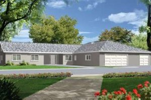 Ranch Exterior - Front Elevation Plan #1-695