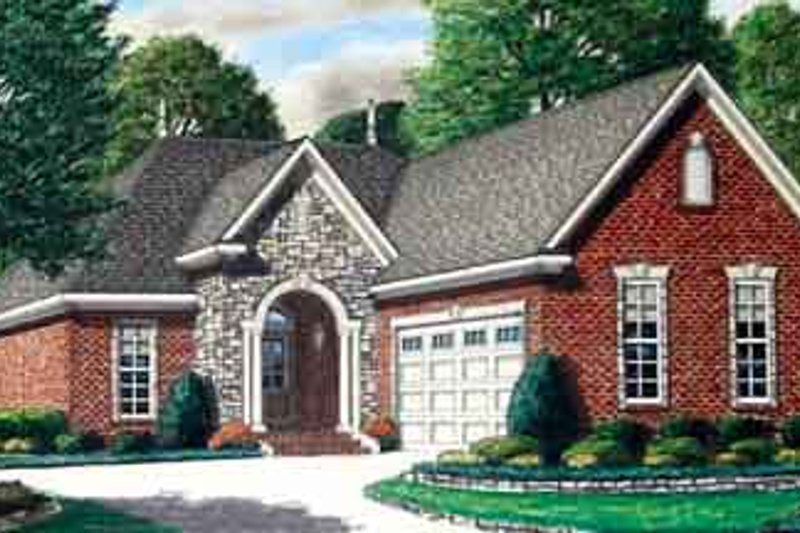 European Exterior - Front Elevation Plan #34-188 - Houseplans.com