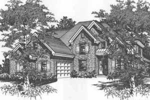 European Exterior - Front Elevation Plan #329-138