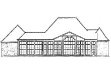 European Exterior - Rear Elevation Plan #301-114