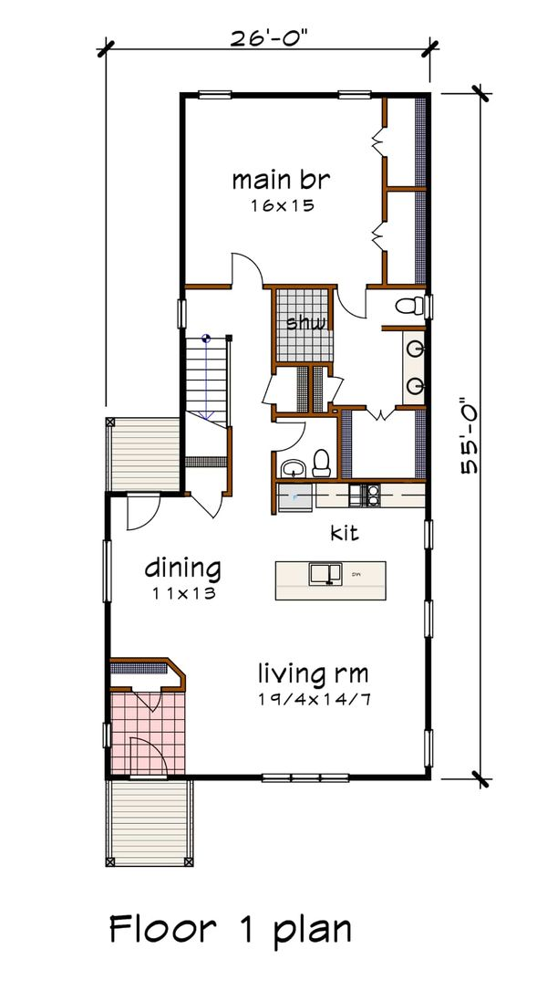 Dream House Plan - Modern Floor Plan - Main Floor Plan #79-319