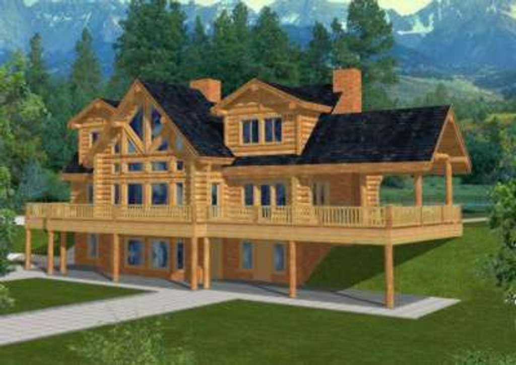 Traditional Exterior Front Elevation Plan 117 313