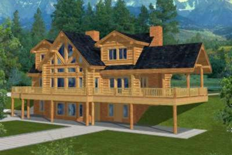 Traditional Exterior - Front Elevation Plan #117-313 - Houseplans.com