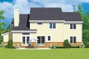 European Style House Plan - 4 Beds 2.5 Baths 2518 Sq/Ft Plan #72-481 Exterior - Rear Elevation