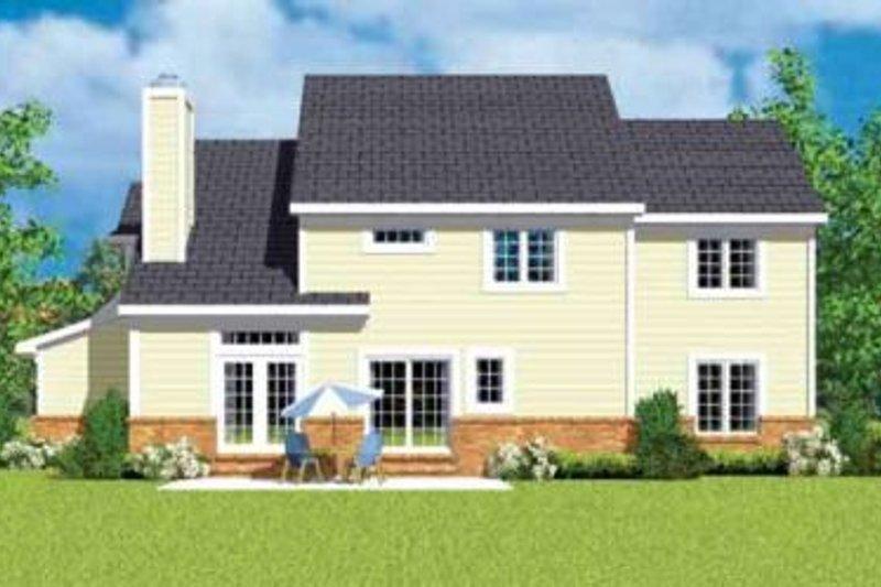 European Exterior - Rear Elevation Plan #72-481 - Houseplans.com