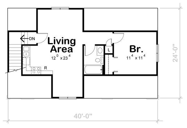 Traditional Floor Plan - Upper Floor Plan Plan #20-2372