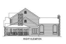 Farmhouse Exterior - Other Elevation Plan #57-135