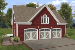 Farmhouse Exterior - Front Elevation Plan #56-552