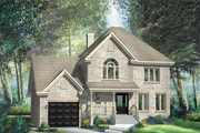 Traditional Style House Plan - 3 Beds 1 Baths 2103 Sq/Ft Plan #25-4676 Exterior - Front Elevation