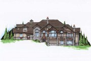 Bungalow Style House Plan - 5 Beds 5.5 Baths 3976 Sq/Ft Plan #5-414 Exterior - Front Elevation