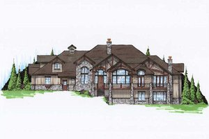 Bungalow Exterior - Front Elevation Plan #5-414