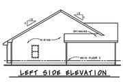 Ranch Style House Plan - 3 Beds 2.5 Baths 1426 Sq/Ft Plan #20-2290 Exterior - Other Elevation