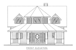 Victorian Exterior - Front Elevation Plan #117-701