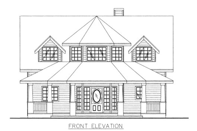 Victorian Style House Plan - 4 Beds 3 Baths 2767 Sq/Ft Plan #117-701 Exterior - Front Elevation