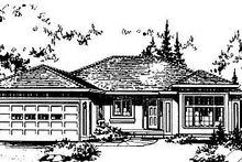 House Blueprint - Ranch Exterior - Front Elevation Plan #18-109