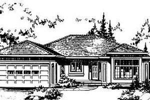 Ranch Exterior - Front Elevation Plan #18-109