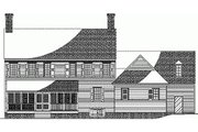Colonial Style House Plan - 5 Beds 5 Baths 3515 Sq/Ft Plan #137-221 Exterior - Rear Elevation