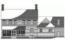 Dream House Plan - Colonial style, Southern design home, rear elevation