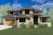 Contemporary Style House Plan - 7 Beds 5.5 Baths 5850 Sq/Ft Plan #920-85 Exterior - Front Elevation